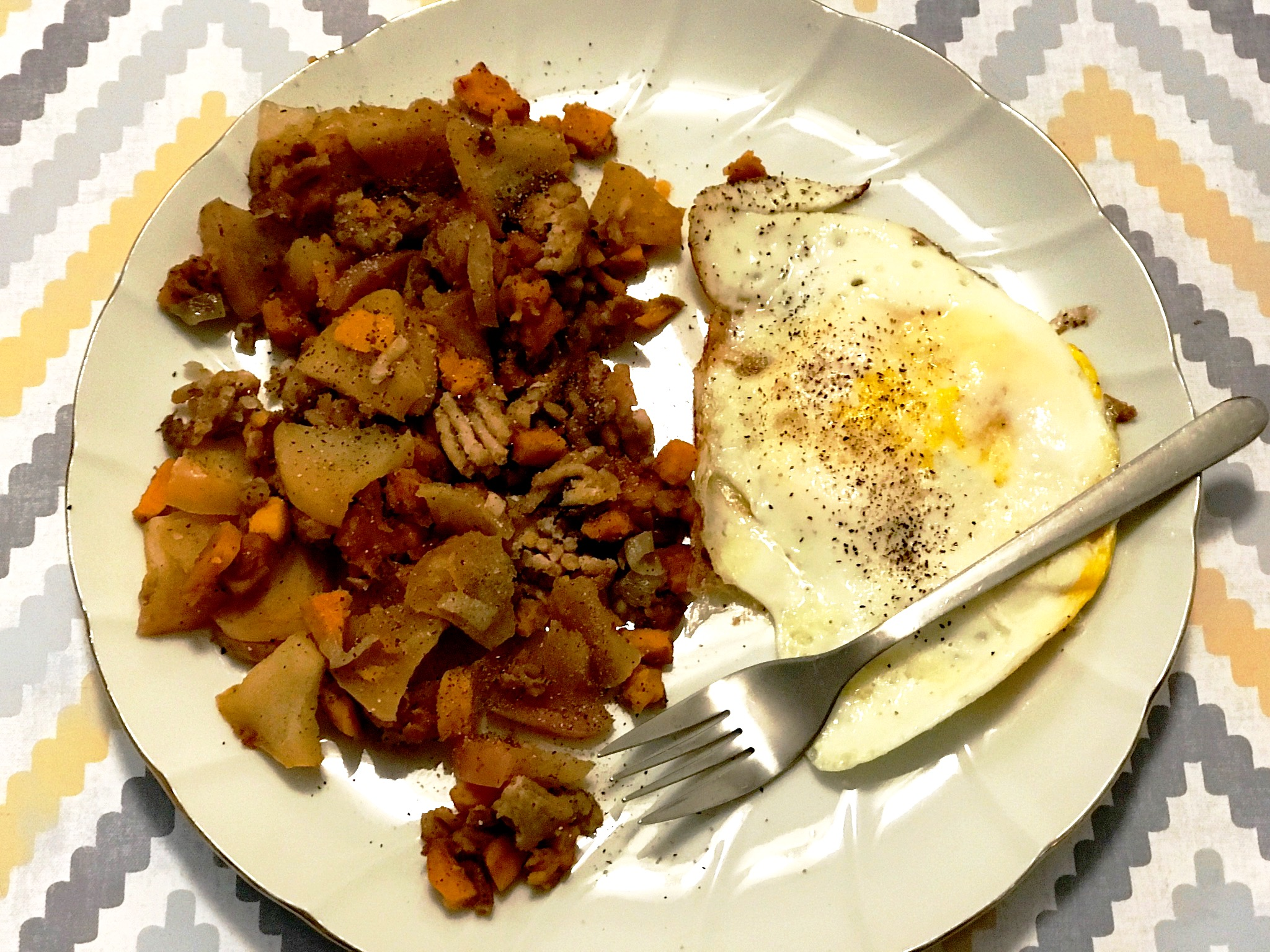 [Recipe] Food Friday: Sweet Potato, Apple, and Chicken Hash